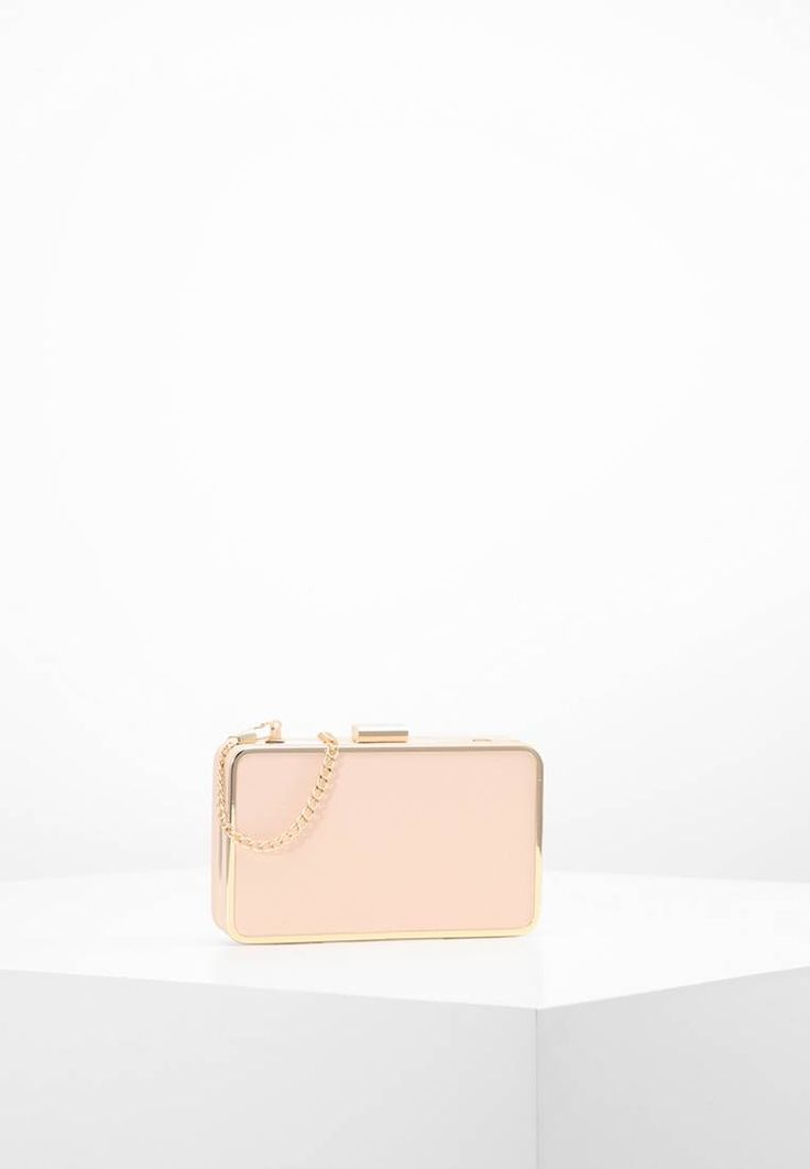 "NAF NAF. Clutch - nude. Pattern:plain. Fastening:Snap fastener. length:6.5 "" (Size One Size). width:1.0 "" (Size One Size). Lining:Polyester. carrying handle:23.5 "" (Size One Size). Fabric:Synthetic leather. Outer material..."