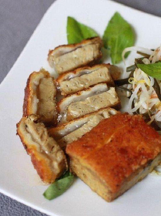 Vietnamese Recipes Home Made Crispy Vegetarian Roast Pork Belly From Ham Roll Or