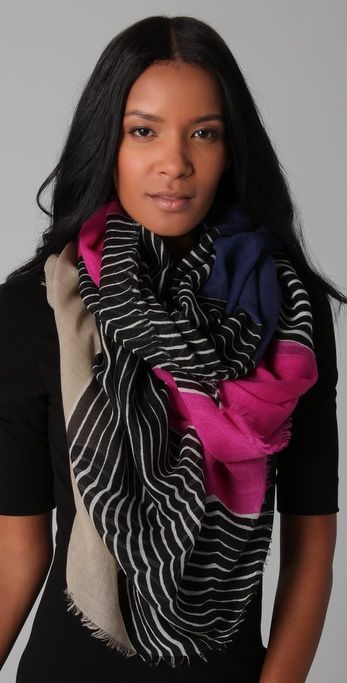 Stripes [insert color here]Awesome Scarf, Hanovar Scarf, Fashion Forward, Big Scarves, Accessories Clothing, Accessories Bags Sho, Diane Von Furstenberg, Dvf Scarf, Dvf Linescap