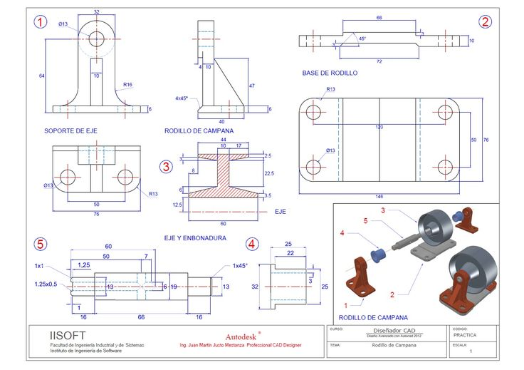 Plano revisado de Rodillo de Campana Ing. Martin Mestanza