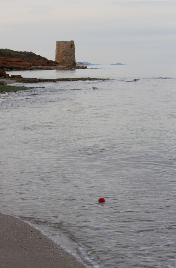Once upon a time a red ball was floating along the shore...  photo made by SDP...