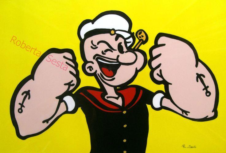 Popeye - Braccio di Ferro Aerografia  Roberta Sesta