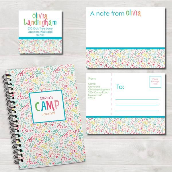 """Our summer camp stationery items are a great way for them to keep in touch while away! Our postcards are an easy way to send a quick note and our """"keep in touc"""