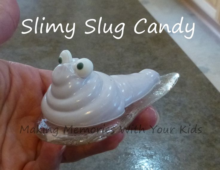 SLIMY SLUG CANDY from Making Memories With Your Kids - yep, they are edible!
