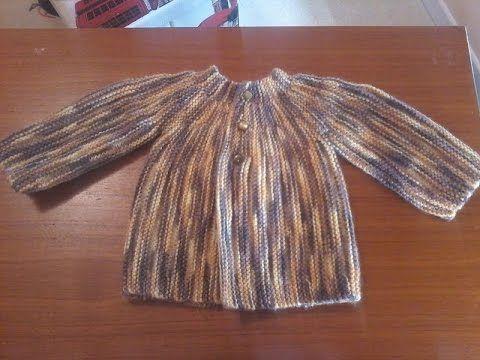Tuto tricot layette : tricoter une jolie brassière pour bébé .