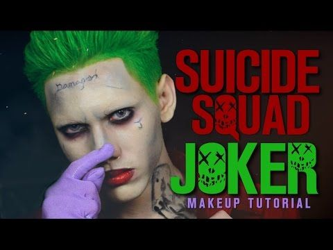 The Joker Suicide Squad ft. Harley Quinn - Makeup Tutorial - YouTube