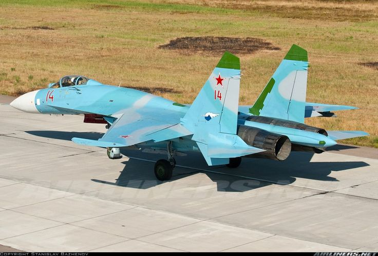 """Su-27 """"Flanker"""" The Su-27 is a big long-range air superiority fighter, comparable to the U.S. F-15 but superior in many respects. It is a twin-engined aircraft with a blended wing and f…"""