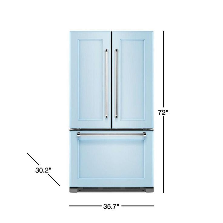 Kitchenaid 219 cu ft french door refrigerator in panel