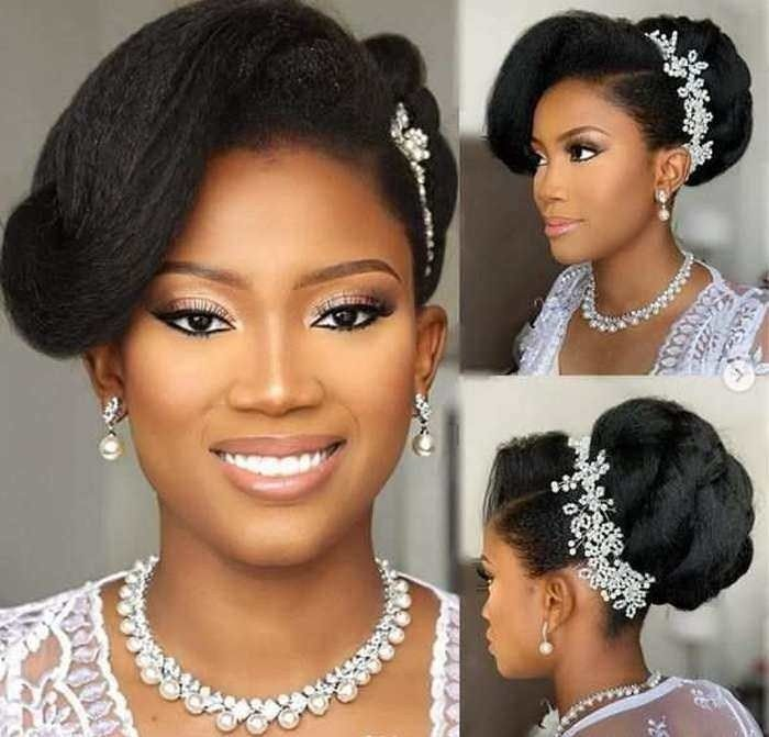 20 Latest Wedding Hairstyle For Nigerian Bride In 2020 Natural Wedding Hairstyles Natural Hair Wedding Nigerian Wedding Hairstyles