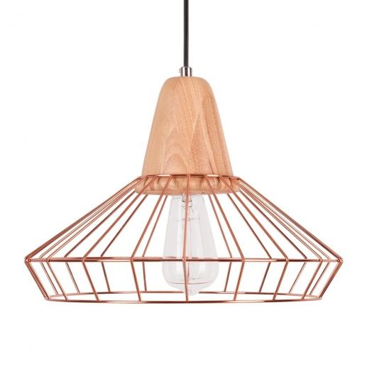 Scandi Cage Lamp in Copper | Contemporary Lamps | Cult Furniture
