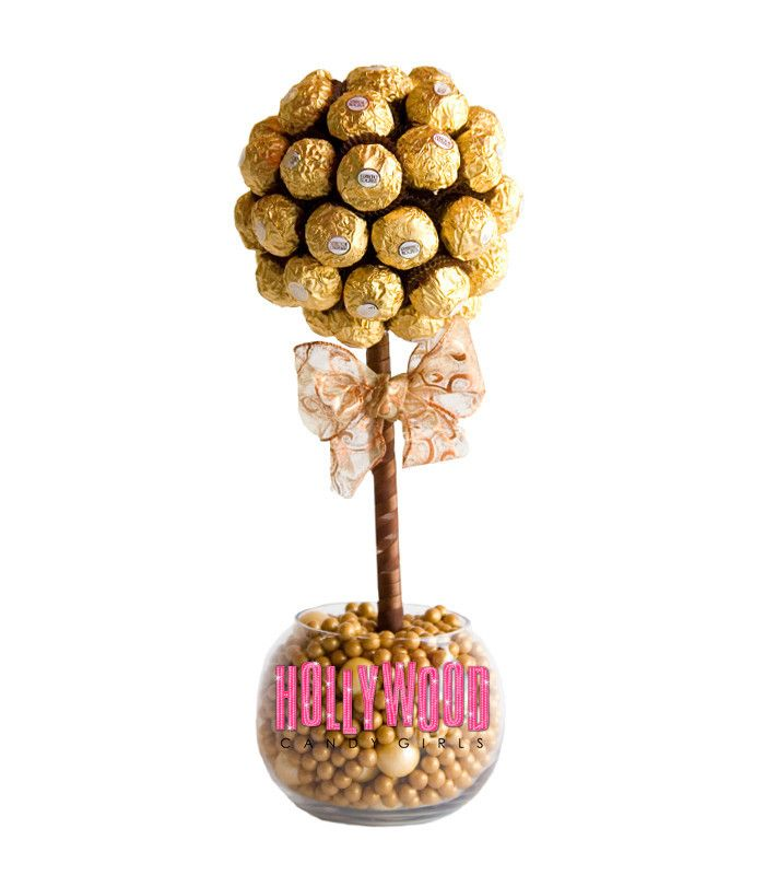 Candy centerpieces topiary land theme party