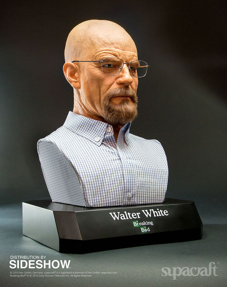Breaking Bad Walter White Life-Size Bust by Supacraft | Sideshow Collectibles
