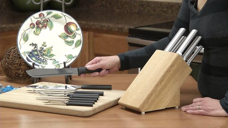 Rada Cutlery: Rada Kitchen Counter Top Oak Knife Block Set | Does Your  Special Someone