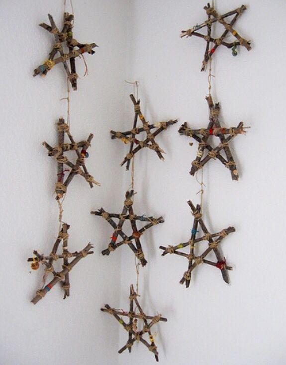 DIY Twig Stars for Christmas tree ornaments or wall decor!