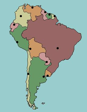 clickable map quiz of the capital cities of South America  Kids