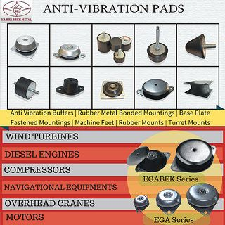 Base Mount Isolator | Anti Vibration Mounting Pad  ENB introduces itself as a manufacturers , suppliers and exporters of Base Mount Isolator or Base Plate Fastened Anti vibration Pads.    These base plate fastened anti vibration mounts  can be used effectively for as long as the machinery itself  without much maintenance hassle. They are very durable and have long lasting functional life. ENB anti-vibration pads are engineered solutions for vibration isolation using natural rubber. These are…