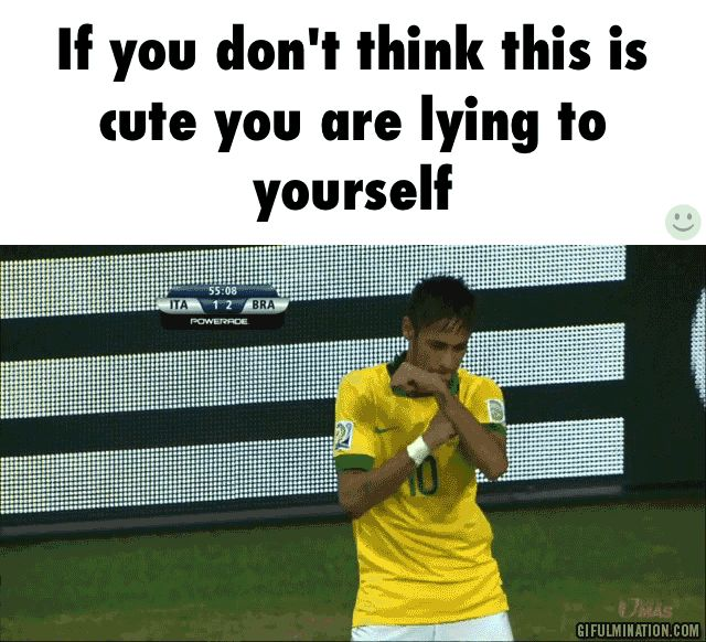 Neymar Jr. nothing cheers me up like this does >.<