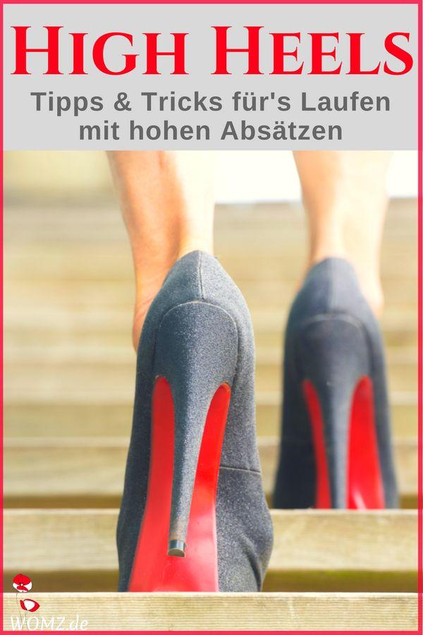 High Heels Training, auf hohen Schuhen laufen