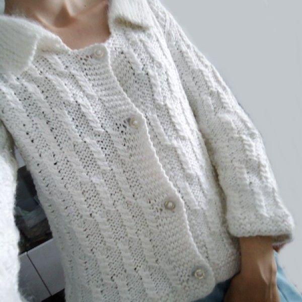 Sweter z WeŁeNkĄ ~ M/S na drutach - Swetry - Ubrania