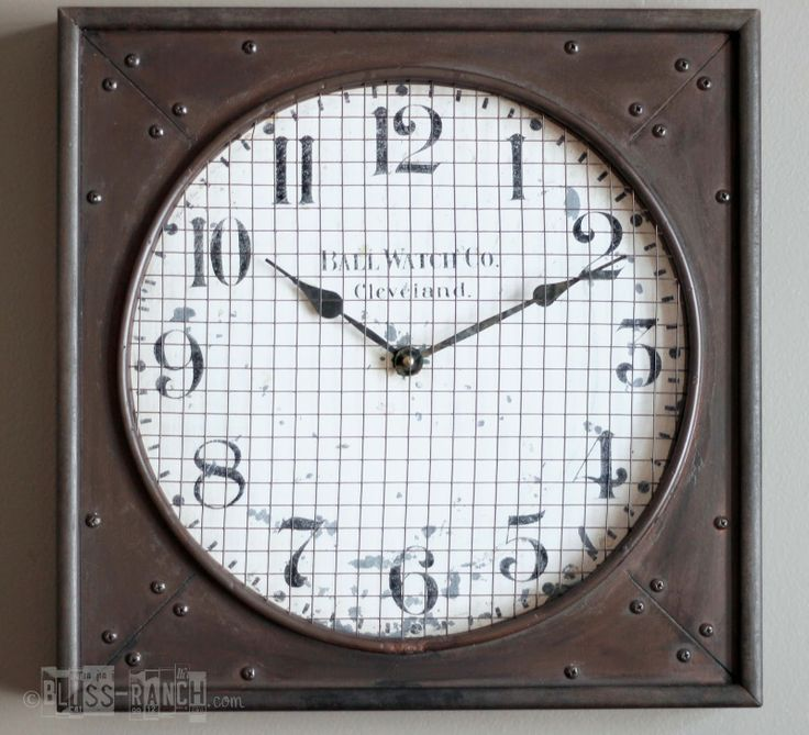 Bliss Ranch: Restoration Hardware inspired Clock Knock-Off