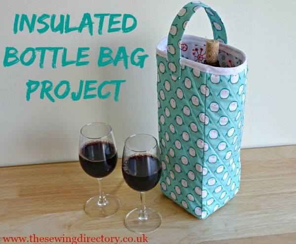 Insulated bottle gift bag which keeps your wine chilled