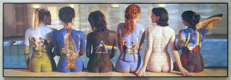 PINK FLOYD back catalogue w czarnej alumiowej ramie - plakat - Galeria Plakatu