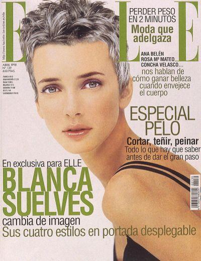 """80s-90s-supermodels: """" Elle Spain, April 1998 Model : Blanca Suelves """""""