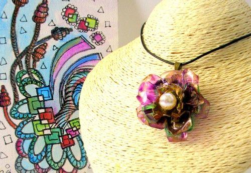 rosas de cha - #206 Eco Friendly Necklace, Artisan Pendant | Eco Colar