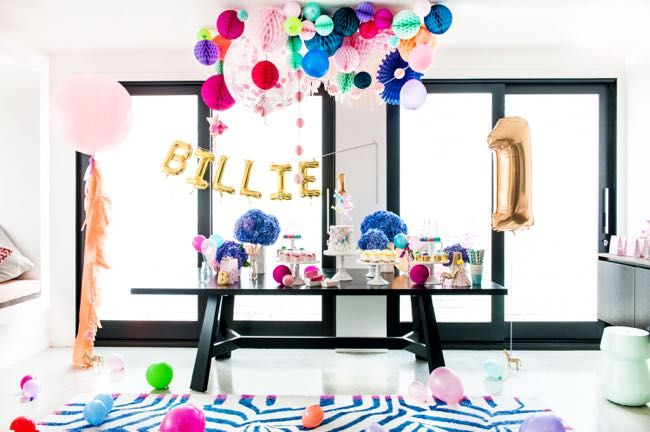 Decorations & styling by Poppies for Grace for Billie Judd's first birthday. Photo by Jaz Blom Cakes by treats for Evie