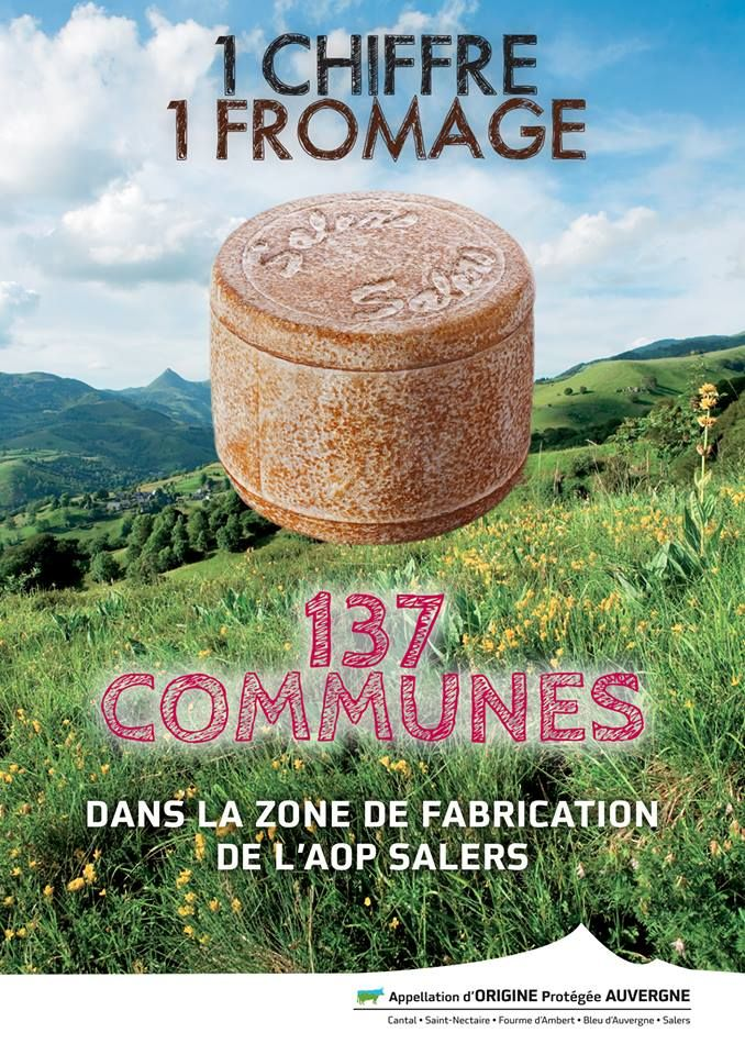 1 chiffre, 1 fromage: 137 communes dans la zone de fabrication de l'AOP #Salers