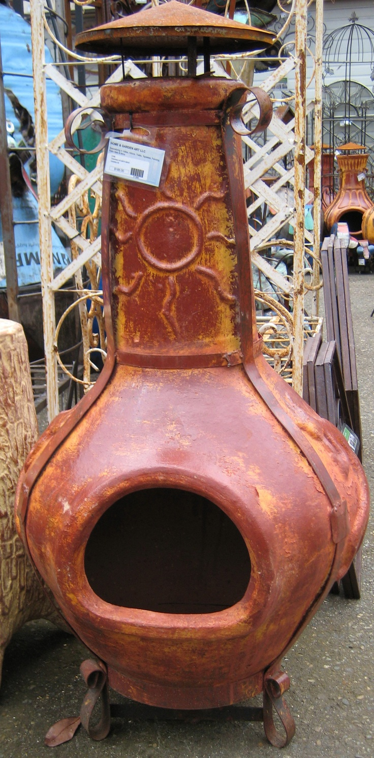 99 best Fire Pits..Chimineas..LOVE THEM images on ... on Backyard Chiminea Ideas id=22847