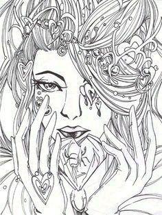 coloriage anti stress visage