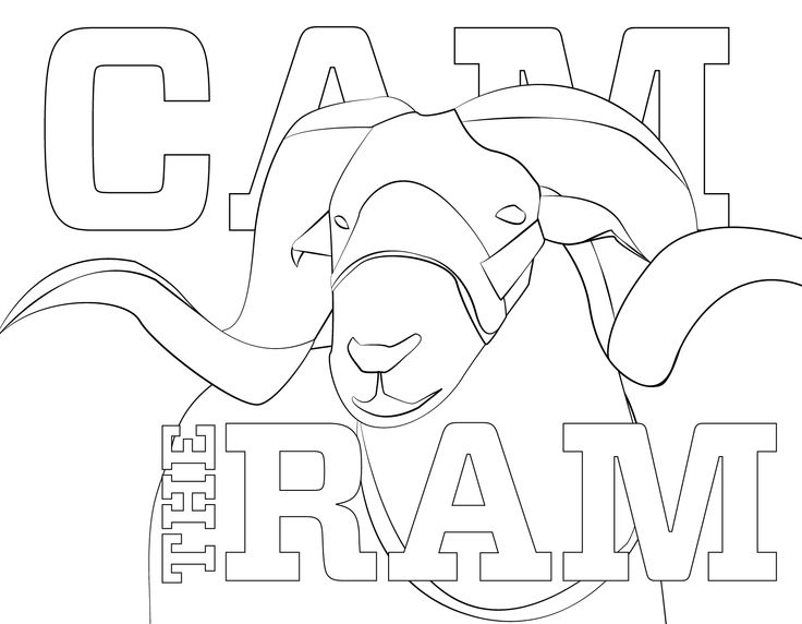 Print out CAM the Ram and color him during a study break this week.