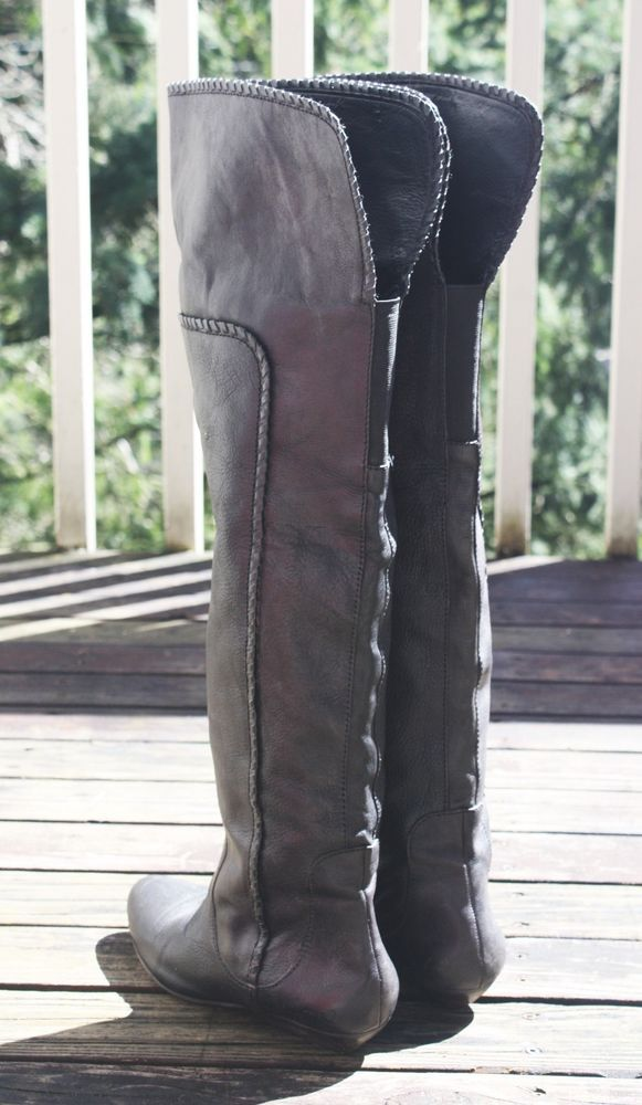 05debc93517 LUCKY BRAND GAI OVER THE KNEE BOOTS 7.5  239 Genuine Leather OTK  Whipstiched  LuckyBrand  OverKneeBoots  Casual