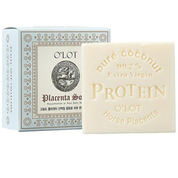 Placenta Soap 80g X 1ea Contains Pure Coconut and Horse Placenta Protein #OLOT
