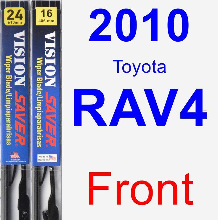 Front Wiper Blade Pack For 2010 Toyota RAV4