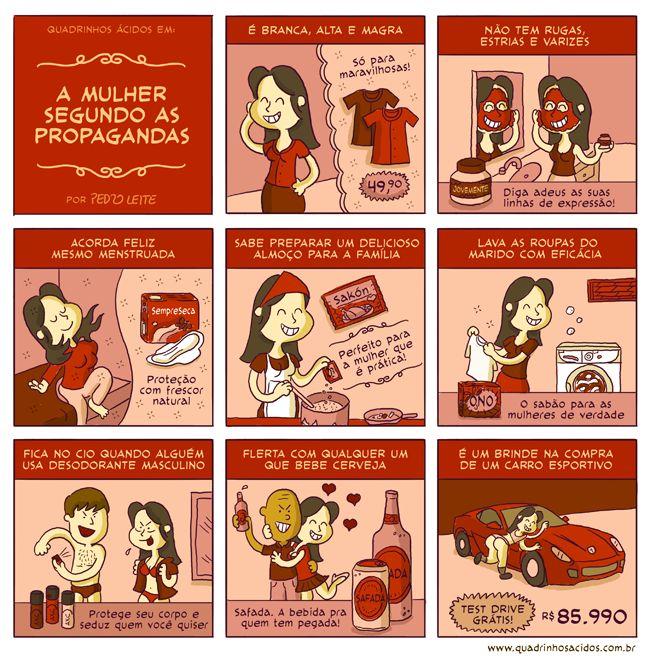 #34 - A mulher segundo as propagandas | Quadrinhos Ácidos