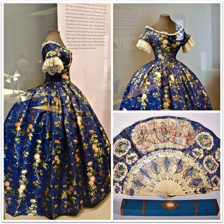 Philadelphia Museum of Art 1850 Silk Brocade Dress
