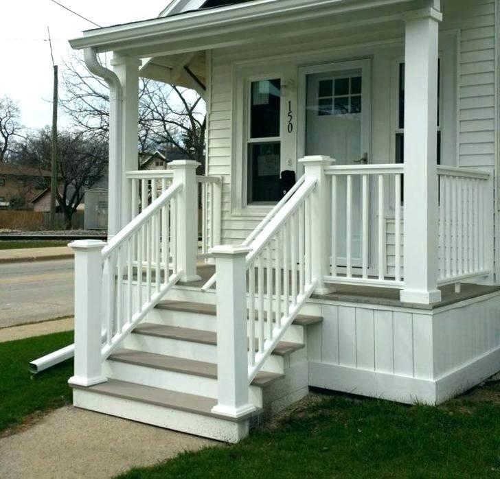 Wood Railing On Concrete Porch Wood Front Porch Steps Front Porch Columns Front Porch Stairs