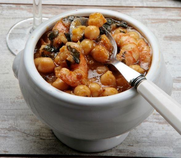 Receta Potaje de Espinacas y Langostinos - Ybarra en tu cocina