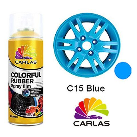 Carlas 'COLOURFUL RUBBER' Spray Paint - BLUE 400ml Can - Taxi-Mart Shop