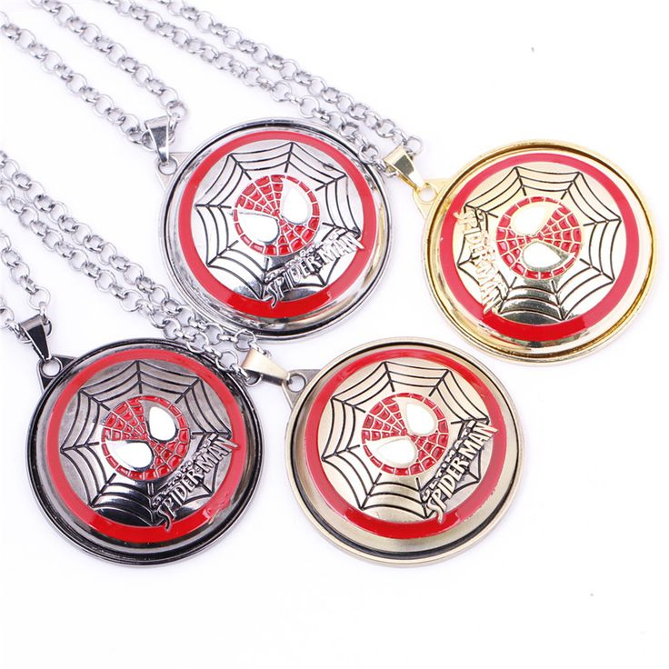 Spider-Man Rotatable Metal Necklace