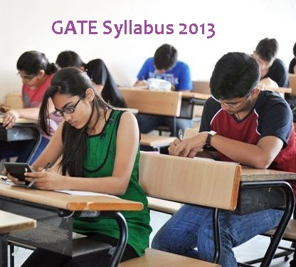 GATE Syllabus 2013 Available Now