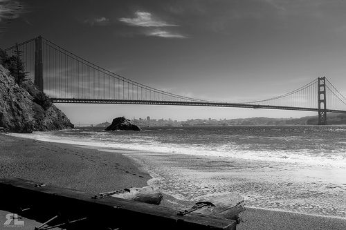 Golden Gate Bridge from Kirby Cove, Marin Headlands, CA