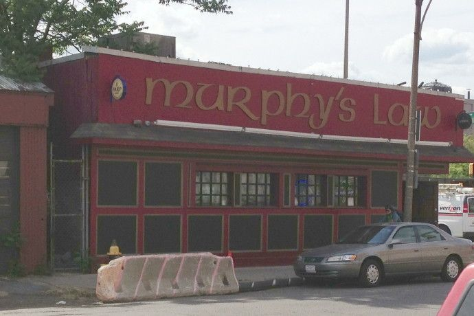 Murphy's Law, a dive bar on Summer Street in South Boston, MA. (from http://hiddenboston.com/dive-murphys-law.html)
