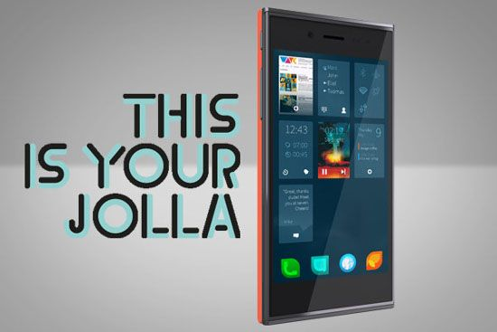 Smartphone Jolla With Sailfish OS