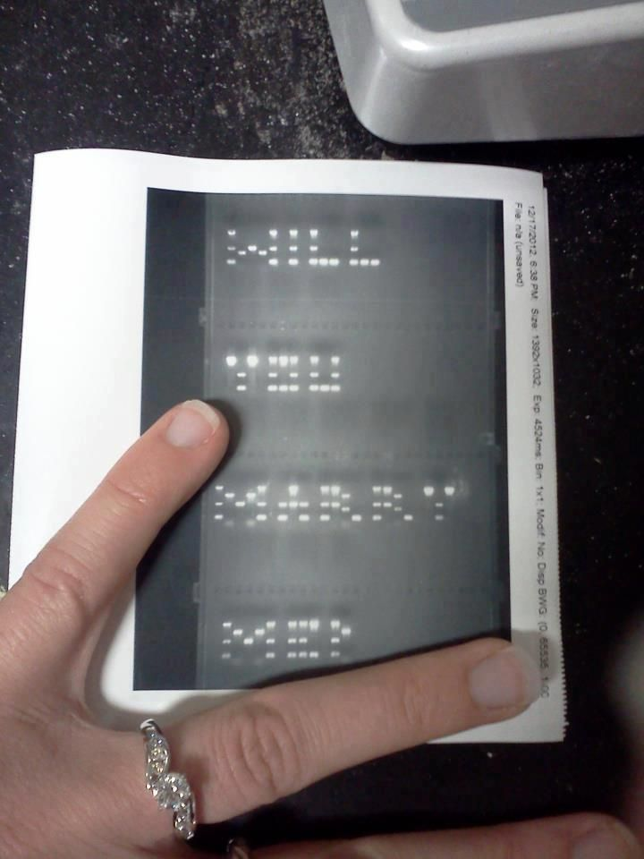 Oh my heavens. This might just be the geekiest thing I have ever seen...A biologist proposed to his girlfriend using a perfectly selected set of DNA fragments run through a gel!