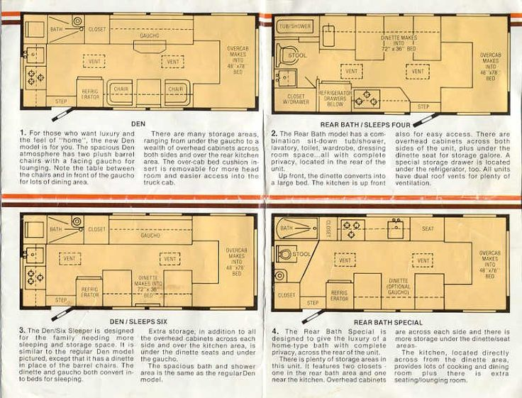 Toyota Motorhome Floor Plans 5 Rv Remodel Stuff