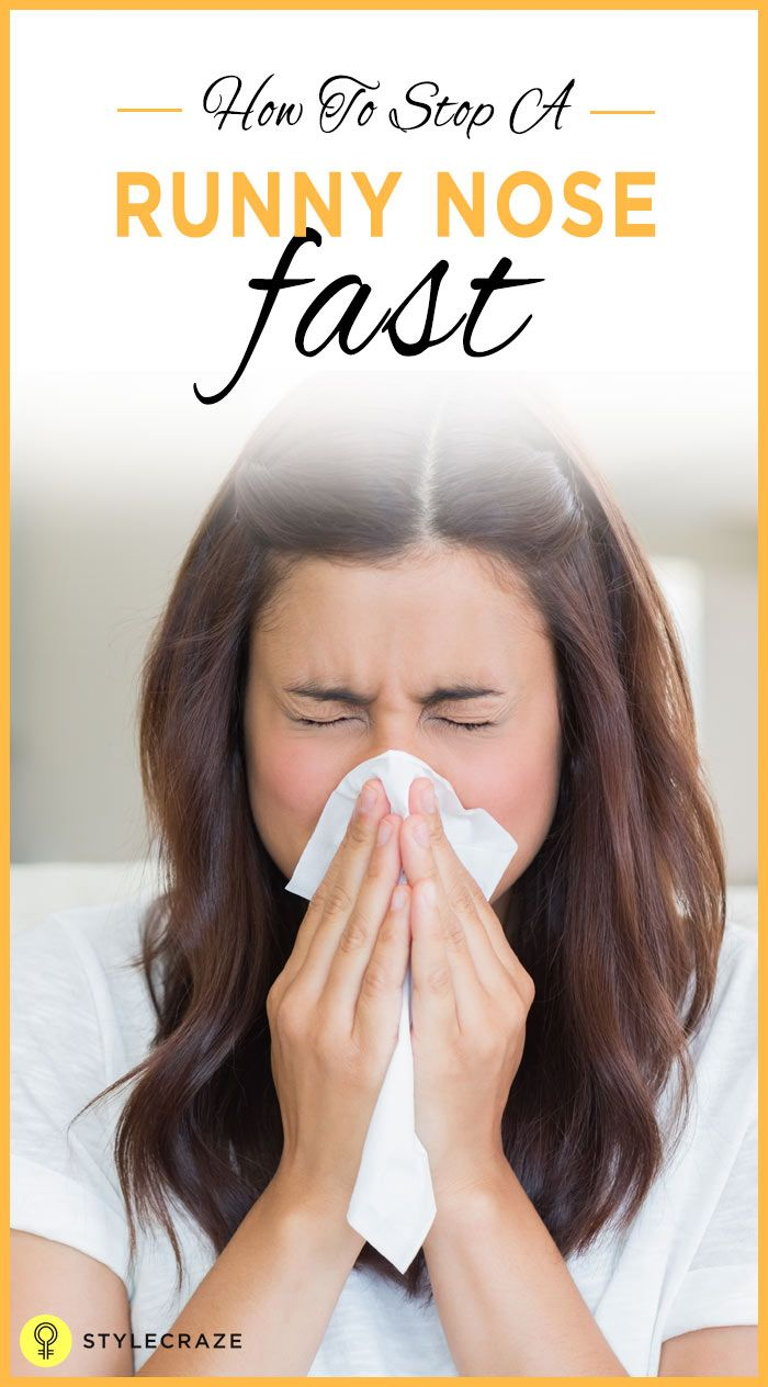 how to get a runny nose fast