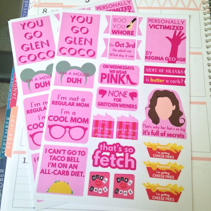 A7 MEAN GIRLS inspired kit! (4.00 USD) by OhHeyStickerCo